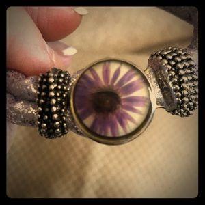 Jewelry - Lavender purple rope 1 snap bracelet- NEW!